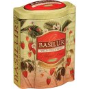 Basilur Magic Wild Strawberry Grüner Tee100 g in Blechdose