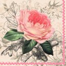 Servietten Rose  20 Stück 33x33cm 3-lagig Design Edition...