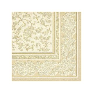Servietten ROYAL Collection 40x40cm 20 Stück champagner Ornaments