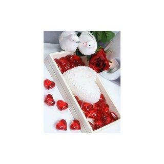 30 Acryl Herzen Rot Streu Dekoration Tischdeko Hochzeit Valentinstag