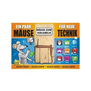Geldgeschenk Mausefalle Ein Paar Mause Fur Neue Technik Geschenk
