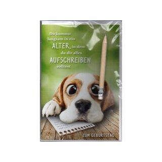 Eulzer Gluckwunschkarte Grusskarte Geburtstag Aufschreiben Bleistift