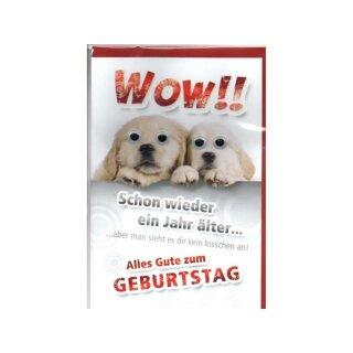 Eulzer Gluckwunschkarte Grusskarte Geburtstag Wow Hunde Mit