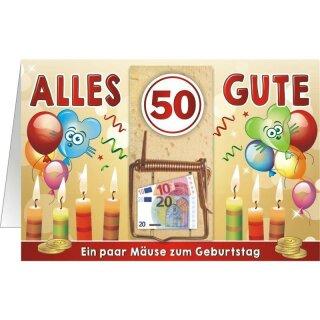 Geldgeschenk Mausefalle 50 Ein Paar Mause Zum Geburtstag Q