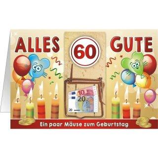 Geldgeschenk Mausefalle 60 Ein Paar Mause Zum Geburtstag Q