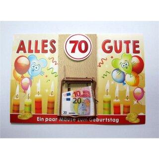 Geldgeschenk Mausefalle 70 Ein Paar Mause Zum Geburtstag Q