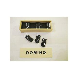 28 Steine Dominospiel in Holzbox