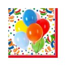 Servietten Lucky Balloons 3-lagig 33 x 33 cm 100 Stück Party
