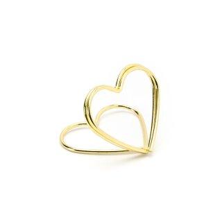 10 Stuck Tischkarten Halter Herzen Gold Platzkartenhalter Goldene