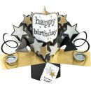 Pop Up Karte 3D Happy Birthday you are a star...
